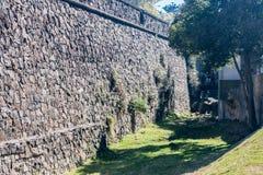 Stone Wall Colonia Sacramento Uruguay Stock Photo