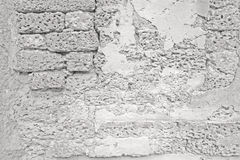 Stone wall with concrete Stock Photography