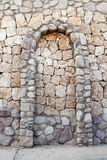 Stone wall with corbel arch Royalty Free Stock Image
