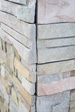 Stone wall corner Royalty Free Stock Images