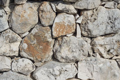 Stone wall. In countryside of South Italy Royalty Free Stock Photo