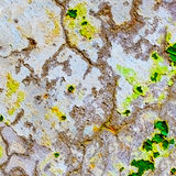 Stone wall covered with cracked plaster Stock Photos