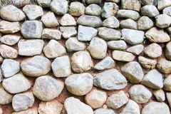 Stone wall design pattern background Royalty Free Stock Photos