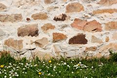 Stone wall detai Stock Images