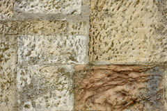 Stone wall detail Royalty Free Stock Images