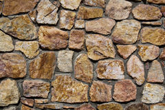 Stone Wall Detail. Stone wall at the Genereal Patton Museum, California royalty free stock images