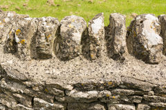 Stone wall-detail, Cotswols, England Stock Photography