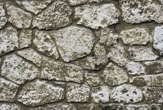 Stone wall. Detail of a stone wall with different size of rock Stock Image