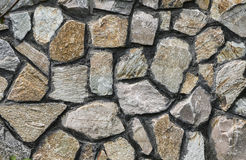 Stone wall. Detail of an  wall front texture background Royalty Free Stock Photo
