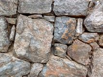 Stone Wall Detail Stock Image