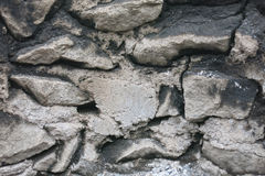 Stone wall. From different stones Stock Photo