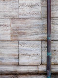 Stone wall and downspout Stock Image