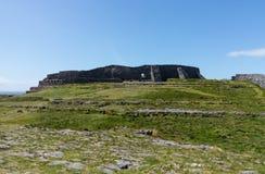 Stone wall at Dun Aonghasa Aran Islands Royalty Free Stock Image