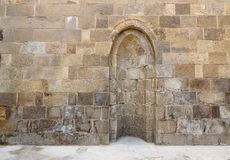 Stone wall with embedded niche Royalty Free Stock Photo