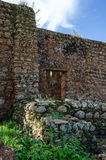 Stone wall of first church south of equator in Africa, Angola, M`banza Congo. First church south of equator in Africa, Angola, M`banza Congo. The ruin is still Royalty Free Stock Photography