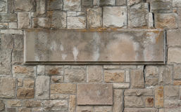 Stone wall with flagstone Stock Image