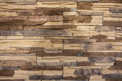 Stone wall, flat stacked background and texture Royalty Free Stock Photo