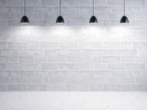 Stone wall and floor, light show Stock Photos