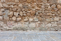 Stone wall and floor texture background Royalty Free Stock Images