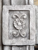 Stone wall flower ornament element Stock Photos