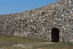 Stone wall fortification in Marvao, Portugal Royalty Free Stock Photos