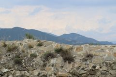 Stone wall of the fortress royalty free stock photos