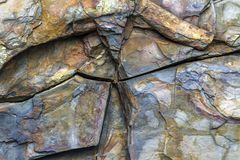 Stone wall with fractures, Newfoundland