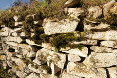 Stone wall, France. Stone wall in the farm, Anthon, Beaujolais, France Royalty Free Stock Photography