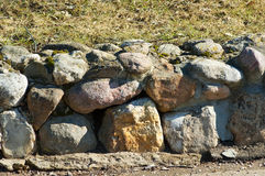 Stone wall. In garden on sunny summer day Stock Photography