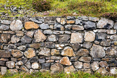 Stone Wall at Giants Causeway stock image