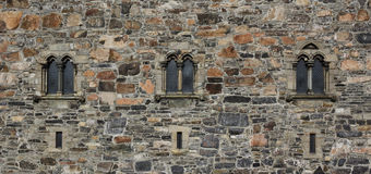 Stone wall gothic Stock Photos