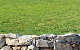 Stone wall with Grass Royalty Free Stock Image