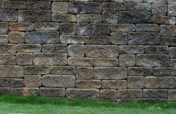 Stone Wall with Grass Royalty Free Stock Images