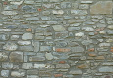 Stone wall gray color for pattern and background. Texture Royalty Free Stock Photos