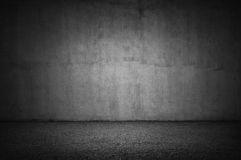 Stone wall and gray floor Royalty Free Stock Image