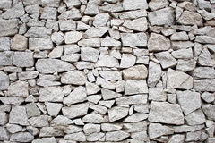 Stone wall. Grey stacked stone outdoor wall stock image