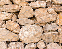 Stone wall in a grid as a background Royalty Free Stock Images
