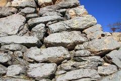 Stone wall of Hamamatsu castle in Hamamatsu, Shizuoka Royalty Free Stock Image