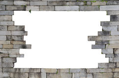 Stone wall with hole Royalty Free Stock Photo