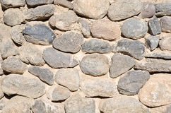 Stone Wall Horizontal Royalty Free Stock Photography