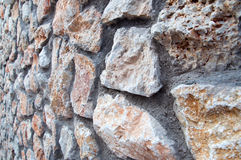 Stone wall. Of the house, background Stock Photos