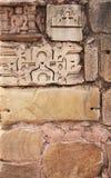 Stone wall and human sculpture at temple, Khajuraho, India Stock Images