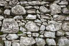 Stone Wall II. Grey textured stone wall without vignette effect Stock Image
