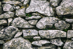 Stone Wall III. Grey textured stone wall without vignette effect Stock Photos