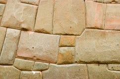 Stone wall from the Inca era. In Cusco, Peru stock photo