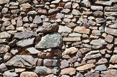 A stone wall. A stone incan wall in Peru Royalty Free Stock Photos