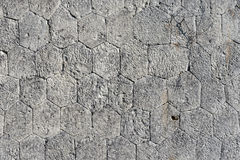 Stone Wall with Irregular Hexagons Royalty Free Stock Photo
