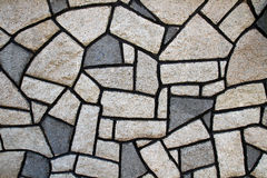 Stone Wall with irregular shape stone Royalty Free Stock Photos