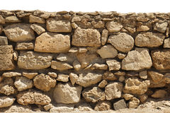 Stone wall isolated Royalty Free Stock Image