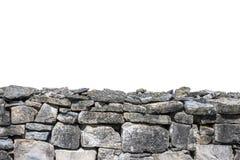 Stone wall isolated Royalty Free Stock Photos